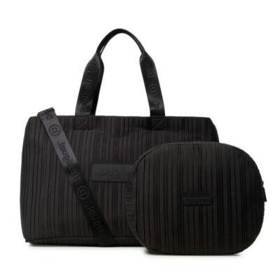 Desigual Duffle Bag Pleats Black